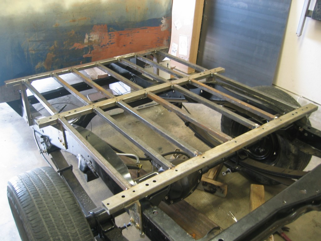 build a truck box frame truck get free image about wiring diagram - Truck Bed Frame