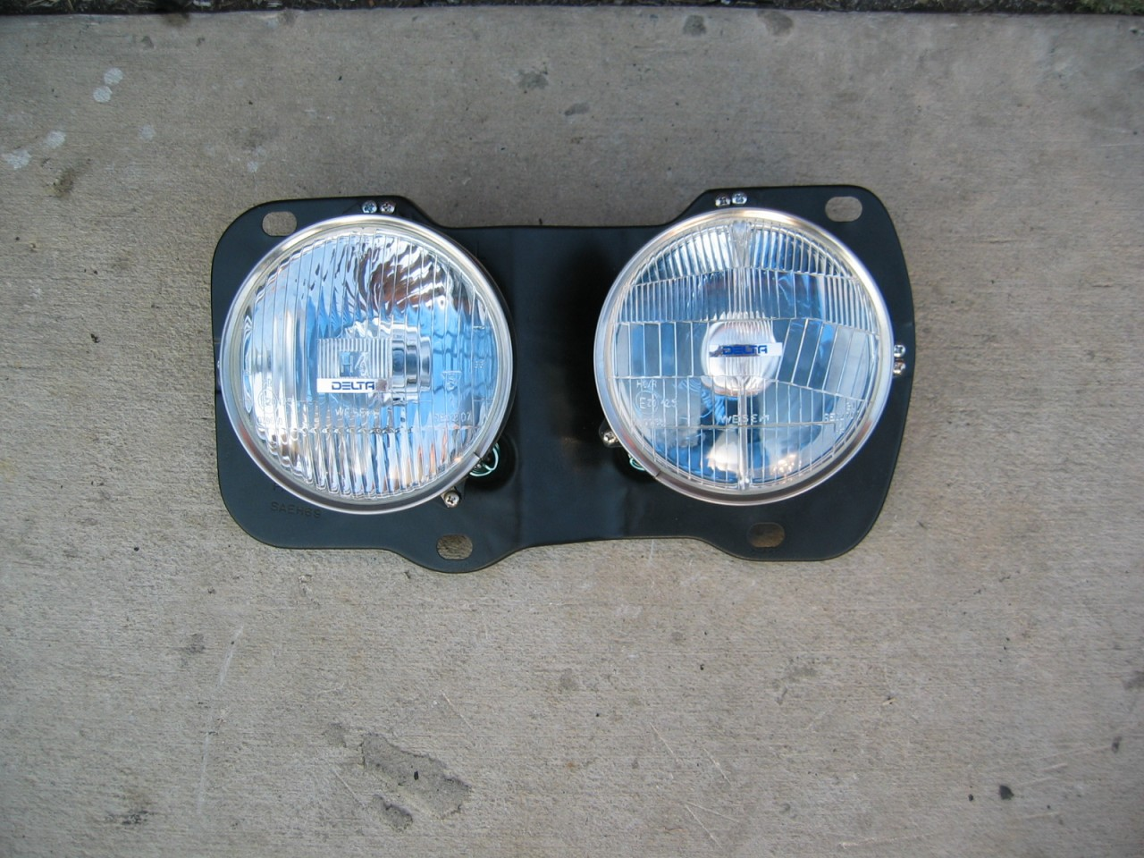 Restoration Projects 1969 Firebird 1977 Trans Am 1954 Truck Bmw E34 Headlight Wiring I Removed The Old T3 Headlights From My Car And Modified Existing Metal Buckets To Accept New H4 Lens Assemblies Purchased