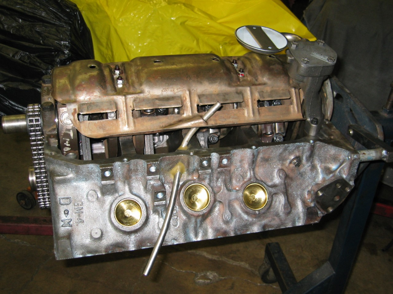 Restoration Projects 1969 Firebird 1977 Trans Am 1954 Truck Pontiac Engine Oil Here Is The Completed Bottom Side Of I Installed A High Volume Pump And Full Size Windage Tray